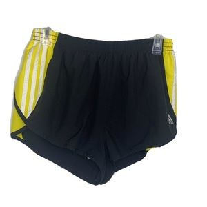 Adidas Climalite Activewear Shorts Black Yellow L